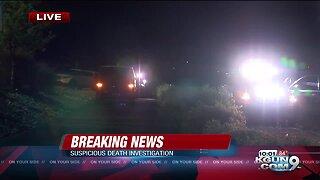Tucson Police investigating suspicious death near south Tucson