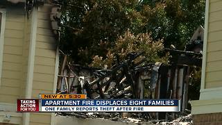 Families left homeless after large fire at Hillsborough County apartment complex