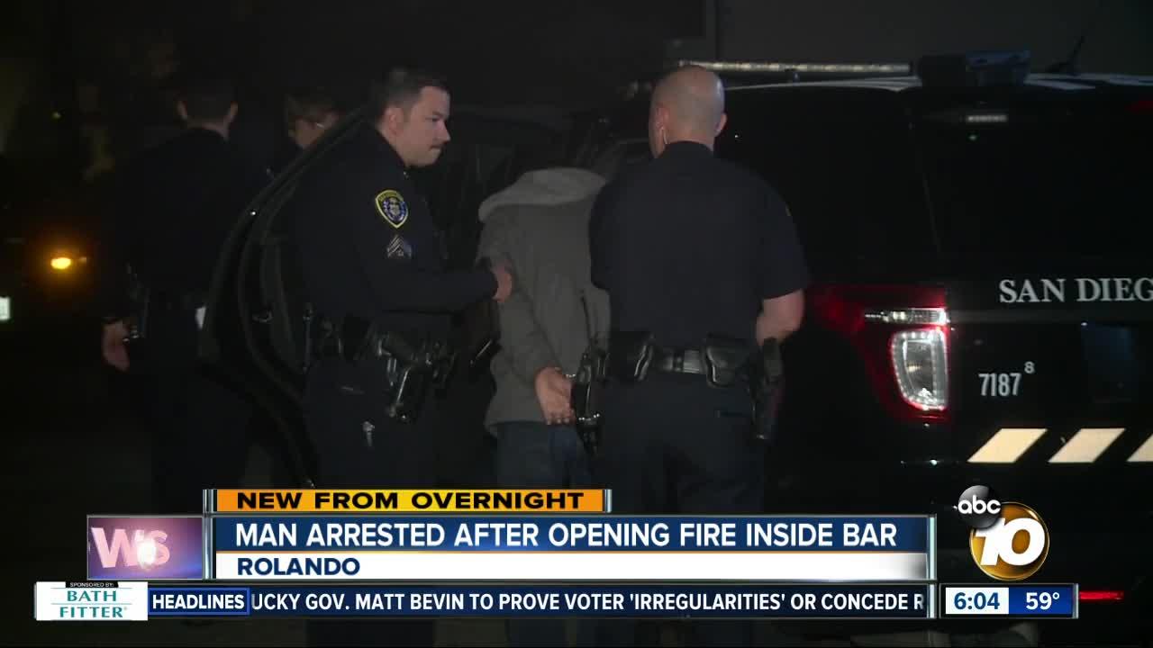 Man arrested after firing shot inside restaurant