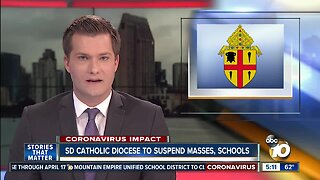 SD Catholic Diocese to suspend masses, schools