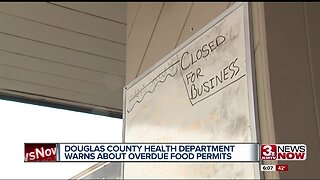 Douglas County Health Department warns about overdue food permits