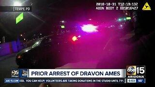 Prior arrest of Dravon Ames by Tempe police