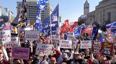 Massive crowd rallies for Trump in Million Maga March