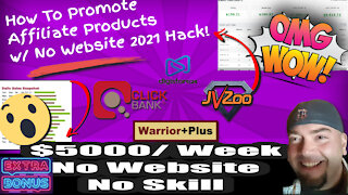 How To Promote Affiliate Products With No Website With Free Traffic 2021 Hack