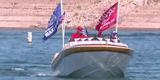 Trump boat parade at Lake Mead