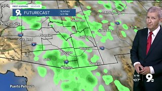 A better chance of thunderstorms for southern Arizona