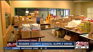 Rogers County school supply drive