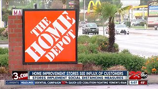 Home improvement stores see influx of customers