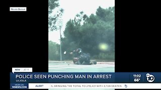 Police seen punching man during arrest