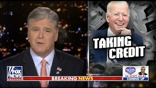 Hannity blasts Biden for taking credit for Trump's vaccine rollout