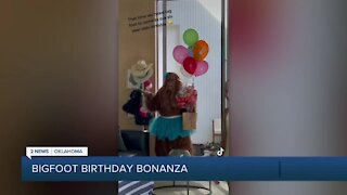 WATCH: 'Bigfoot' birthday surprise scares Oklahoma partygoers