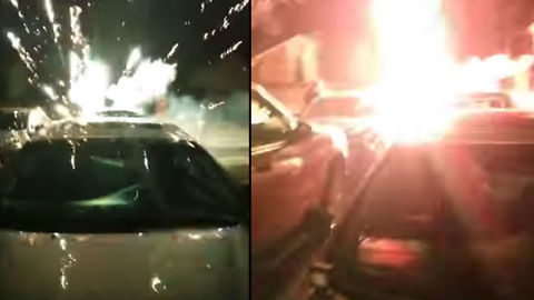 New Year's Fireworks Attempt Ends In Epic FAIL