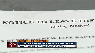 Juliette's Hope asked to leave home