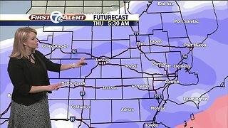 Snow expected Wednesday night through Thursday