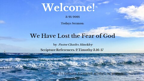 We Have Lost the Fear of God in Our Lives