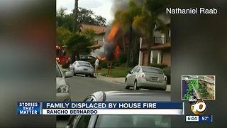 Rancho Bernardo family displaced after house fire