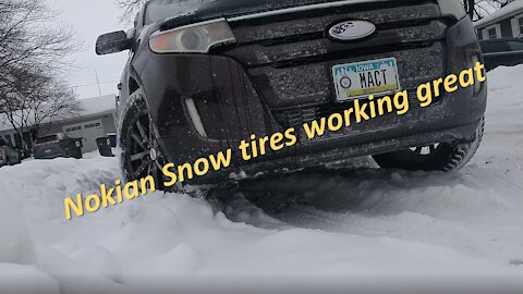 Nokian Snow tires performing well
