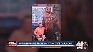 Man returning from vacation gets carjacked