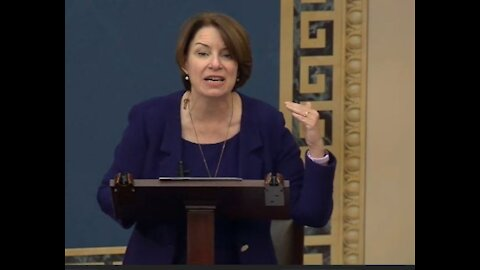 """""""Don't be scared"""" Amy Klobuchar calls out Republicans for stalling the voting rights bill"""