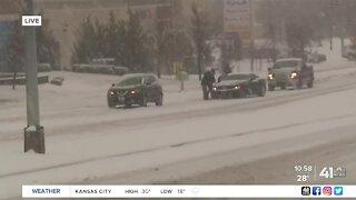 New Year's Day winter storm snarls traffic in Kansas City
