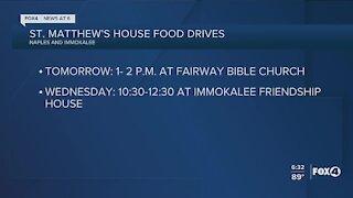 St. Matthew's House food drives