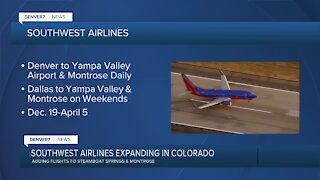Southwest Airlines adding flights to 2 Colorado cities