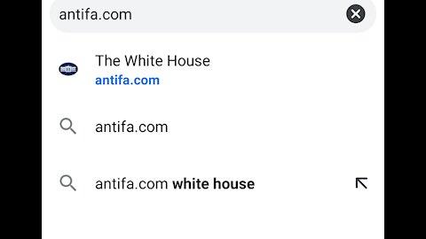 Antifa.com the new Whitehouse website
