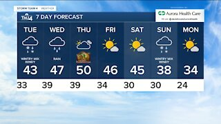 First accumulating snow coming Tuesday