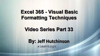Excel 365 Visual Basic Part 33 – Formatting