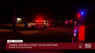 Three shot in south Phoenix