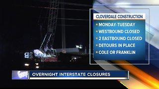 TRAFFIC ALERT: Closures on I-84 to begin Monday