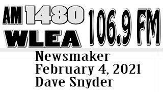 Wlea Newsmaker, February 4, 2021, Dave Snyder