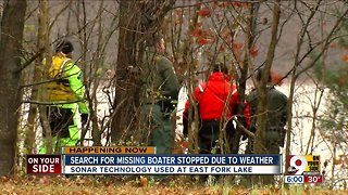 Search for missing boater suspended due to weather