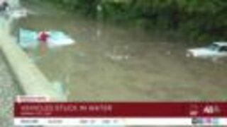 Emergency crews rescue stranded motorists