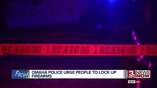 Omaha police urging people to lock up firearms