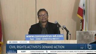 Civil rights activists demand action