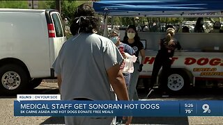 Local restaurant serves free Sonoran hot dogs to St. Mary's frontline workers
