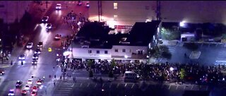 Protests take over downtown Las Vegas for 5th night