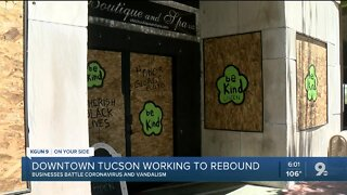 Downtown works to rebound from virus and vandalism