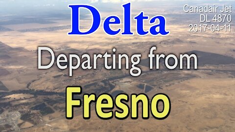 Delta Departing from Fresno DL4870 Canadair Jet