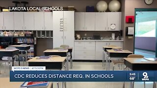 CDC reduces social distancing recommendations in schools