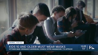 Tulsa City Council approves mask mandate for ages 10 and up