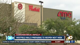 Westfield malls in San Diego County to reopen next week with restrictions