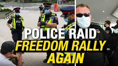 Hamilton Freedom Rally RAIDED by police; everyone in attendance fined