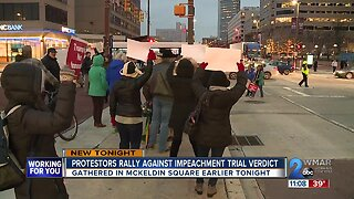 Protestors rally against impeachment trial verdict
