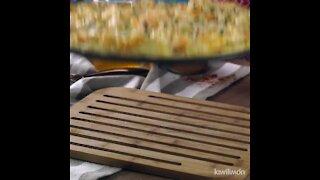 Pizza Alfredo with Shrimp