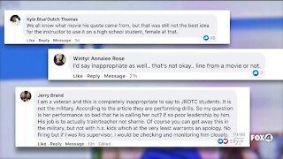 Community split over JROTC instructor's comment