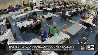 Republican Party battles to audit Maricopa County ballots