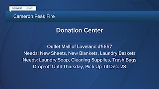 Larimer County Donation Center open to help fire victims