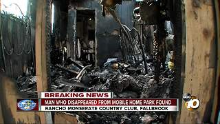 Man found after mobile home park fire